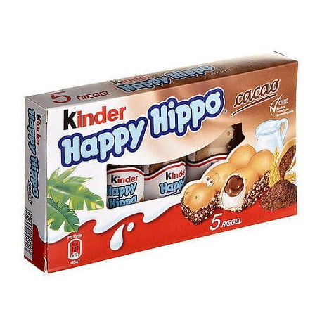 Wafelki Kinder Happy Hippo Cacao 5 szt - 103,5 g