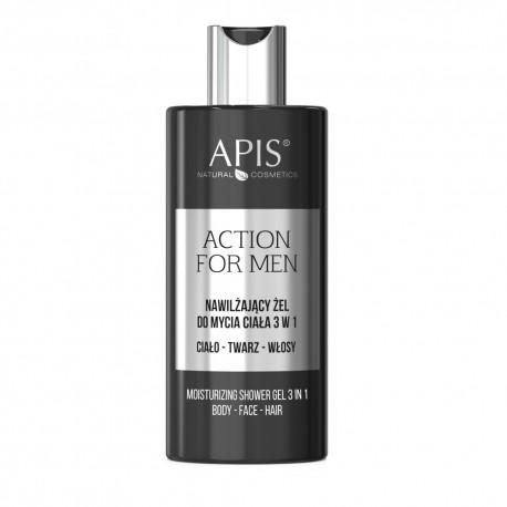 Nawilżający Żel do mycia ciała Action for Men 300ml- Apis