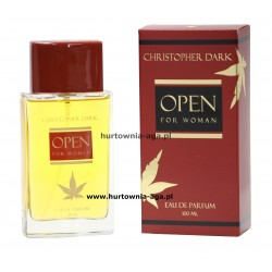 Open for woman eau de parfum 100 ml Christopher Dark