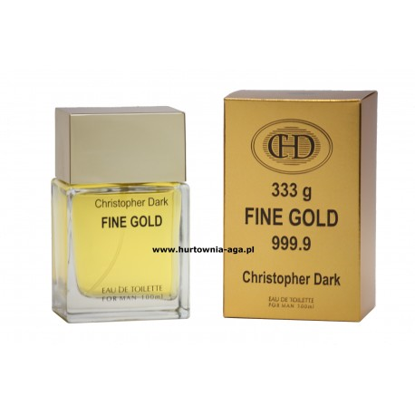 Fine Gold  eau de toilette for man 100 ml Christopher Dark